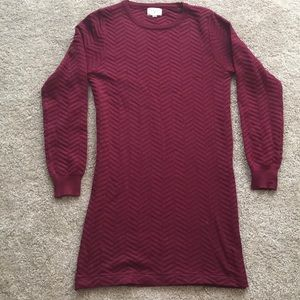 BOUTIQUE maroon sweater dress